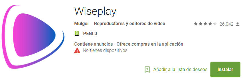 descargar wiseplay para android