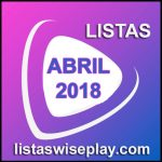 listas wiseplay abril 2018